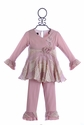 Isobella and Chloe Couture Outfit for Girls in Lavender (6 Mos, 9 Mos, 3T)