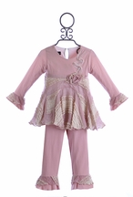 Isobella and Chloe Couture Outfit for Girls in Lavender (Size 3T)