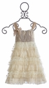 Isobella and Chloe Creme Brulee Girls Ruffled Dress (6 Mos & 9 Mos)