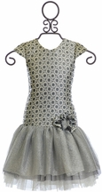 Isobella and Chloe Designer Dress in Silver