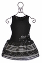 Isobella and Chloe Drop Waist Dress for Girls in Black Lace (Size 10)