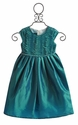 Isobella and Chloe Enya Teal Waves Little Girls Dress