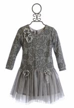 Isobella and Chloe Fancy Dress for Girls in Gray