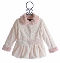 Isobella and Chloe Faux Fur Winter Coat for Girls in White