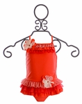 Isobella and Chloe Fruit Punch Girls Tankini in Red