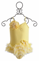 Isobella and Chloe Girls Bathing Suit in Yellow (Size 6X)