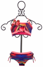 Isobella and Chloe Girls Bikini Chevron Print (12Mos,18Mos,10,14)