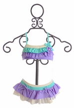 Isobella and Chloe Girls Bikini in Lilac Ruffles (Size 24Mos)
