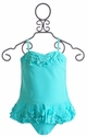 Isobella and Chloe Girls Blue Ruffle Tankini