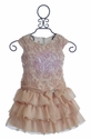 Isobella and Chloe Girls Dress in Champagne