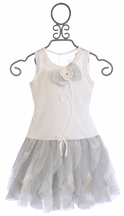 Isobella and Chloe Girls Dress in Country Cottage Gray (Size 2T)