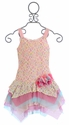 Isobella and Chloe Girls Drop Waist Dress Paris Pink