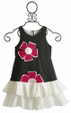 Isobella and Chloe Girls Drop Waist Flower Dress