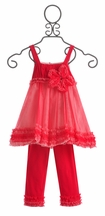 Isobella and Chloe Girls Fancy Outfit in Raspberry (Size 6Mos)