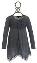Isobella and Chloe Girls Blue Gray Tunic in Lace (7,8,12)