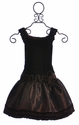 Isobella and Chloe Girls Holiday Dress in Chocolate Monet