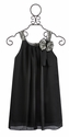 Isobella and Chloe Girls Holiday Dress in Dark Gray (Size 7)