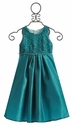 Isobella and Chloe Girls Holiday Dress in Enya Waves