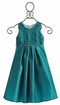 Isobella and Chloe Girls Holiday Dress in Enya Waves (Size 4)