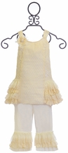 Isobella and Chloe Girls Ivory Lace Tunic Set