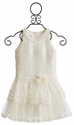 Isobella and Chloe Girls Ivory Tutu Party Dress