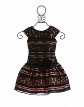 Isobella and Chloe Girls Lace Dress in Black Madeline (2T,3T,4,7)