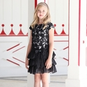 Isobella and Chloe Girls Lace Holiday Dress in Audrey