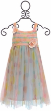 Isobella and Chloe Girls Party Dress Confetti