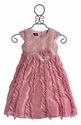 Isobella and Chloe Girls Party Dress in Candied Ginger