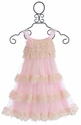 Isobella and Chloe Girls Ruffle Dress in Pink Secret Garden