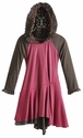 Isobella and Chloe Girls Skater Dress with Hood