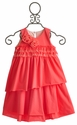 Isobella and Chloe Girls Sleeveless Coral Ruffle Dress