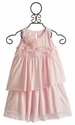 Isobella and Chloe Girls Sleeveless Pink Ruffle Dress