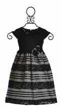 Isobella and Chloe Girls Special Occasion Dress in Black (Size 4T)