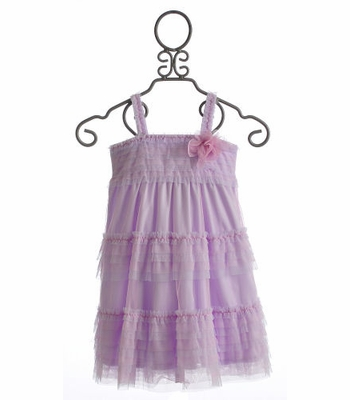 Isobella and Chloe Girls Spring Dress Waterlily Lilac