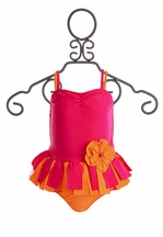 Isobella and Chloe Girls Sunburst Two Piece Swimsuit (3Mos,6Mos,12Mos)