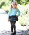Isobella and Chloe Girls Tutu Tunic in Tiffany Blue