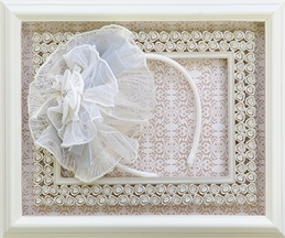 Isobella and Chloe Headband in Country Cottage Gray
