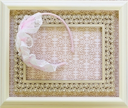 Isobella and Chloe Headband in Light Pink Lace