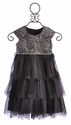 Isobella and Chloe Holiday Dress for Girls in Silver