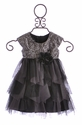 Isobella and Chloe Holiday Dress for Infants in Silver (12Mos & 24Mos)