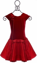 Isobella and Chloe Holiday Dress in Red (8,10,12)