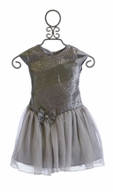 Isobella and Chloe Holiday Dress Silver Sequin
