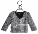 Isobella and Chloe Iceland Grey Faux Fur Jacket for Girls