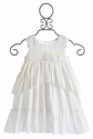 Isobella and Chloe Infant Ivory Ruffle Sleeve Dress