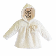 Isobella and Chloe Ivory Coat for Girls