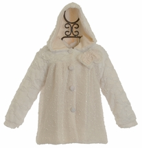 Isobella and Chloe Ivory Coat for Girls (9Mos,3T,4T,5,6)