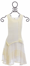 Isobella and Chloe Ivory Dress Dove Heart