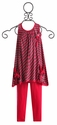 Isobella and Chloe Jersey Girl Tunic and Capri in Magenta
