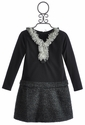 Isobella and Chloe Kendra Charcoal Tween Dress